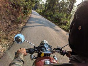 Att lära sig köra motorcykel